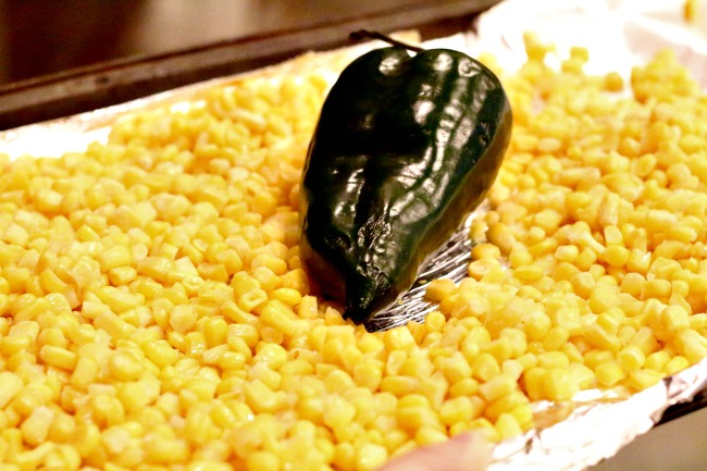 corn and poblano