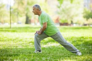 senior exercising