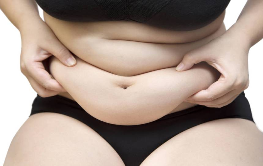 woman bloated