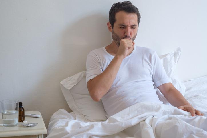 man with bronchitis