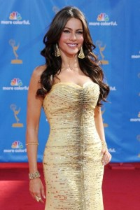 Sophia Vergara poses at the Emmys