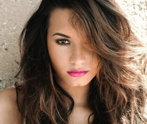 Demi Lovato with brown hair