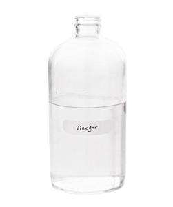 A bottle of white vinegar