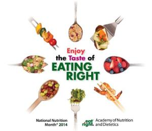 ACADEMY OF NUTRITION AND DIETETICS TASTE OF EATING RIGHT