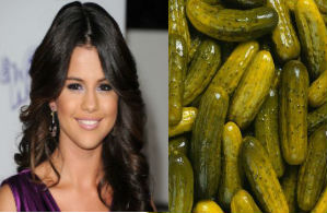 selena gomez, selena gomez eating pickles, pickles, selena gomez and pickles