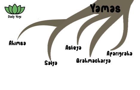 Daily Yogi Yamas - Ahimsa, Satya, Asteya, Brahmacharya, Aparigraha