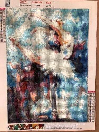completed ballerina diamond painting