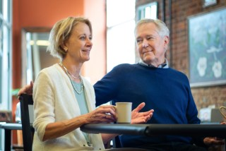 Photo of Deb and Jim Fallows in Our Towns documentary