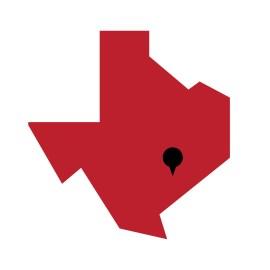 Dewitt County, Texas on a map.