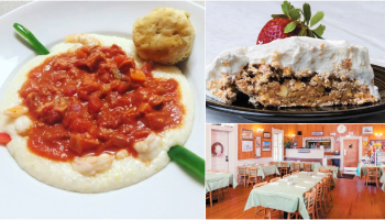 A collage of photos from Eatery at the Depot.