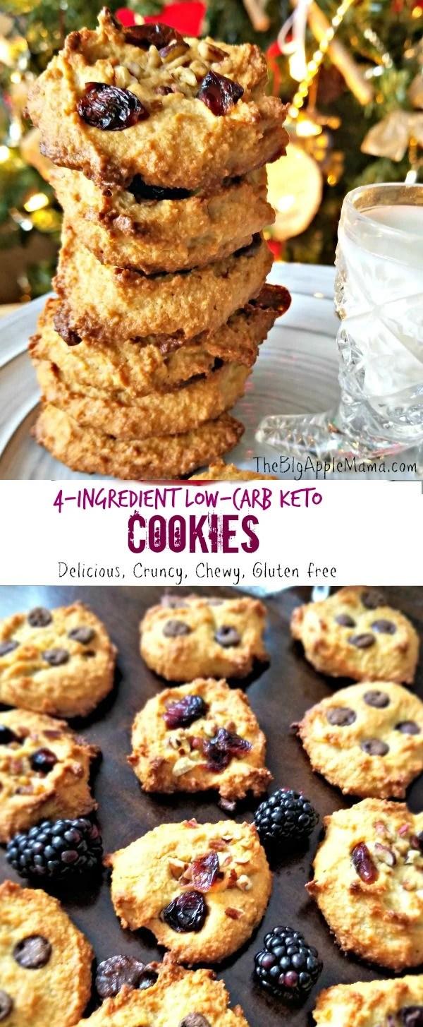 4-Ingredient Low carb Keto cookies
