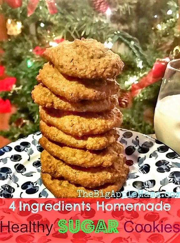 4 Ingredient Sugar Cookies to bake for Santa!