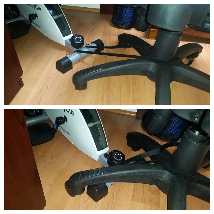 rear leg of the deskcycle