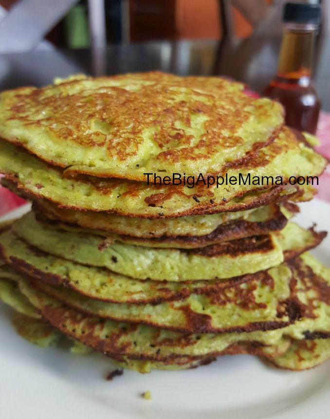 Green High protein, low carb pancake