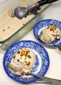 vegan vanilla ice cream, cauliflower ice cream