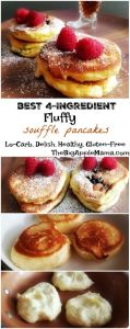Best 4-Ingredient Fluffiest souffle pancakes. Low-carb. Paleo friendly, Gluten free