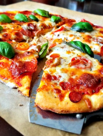 Better than Takeout – 2 Ingredient Crispy Pizza Crust