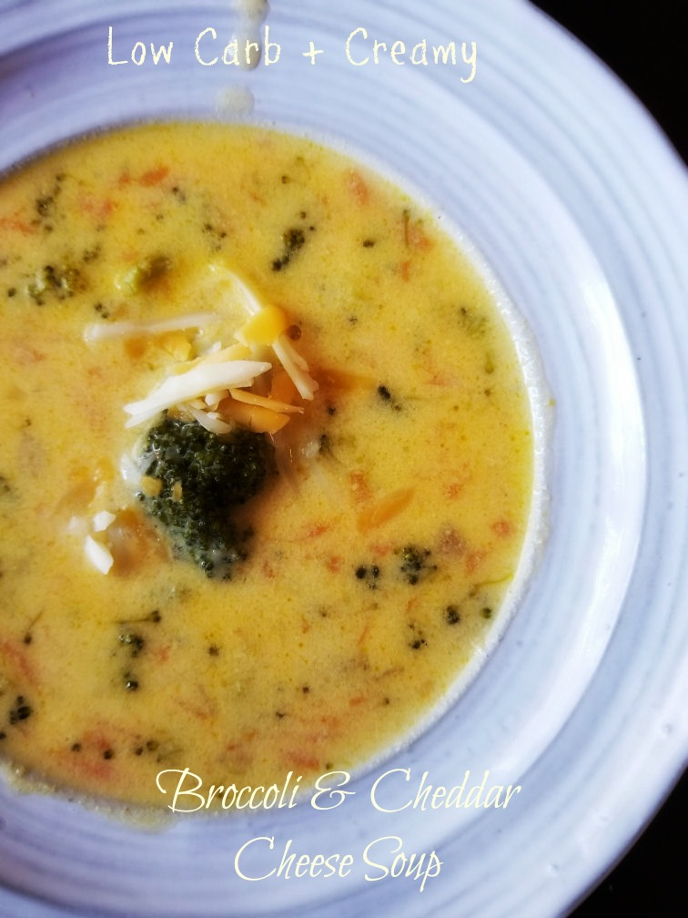 Low Carb Creamy Broccoli Cheddar Cheese Soup