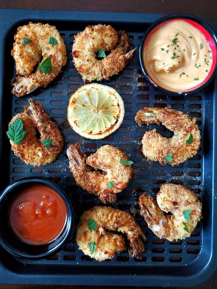 Air Fryer shrimp with bang bang sauce