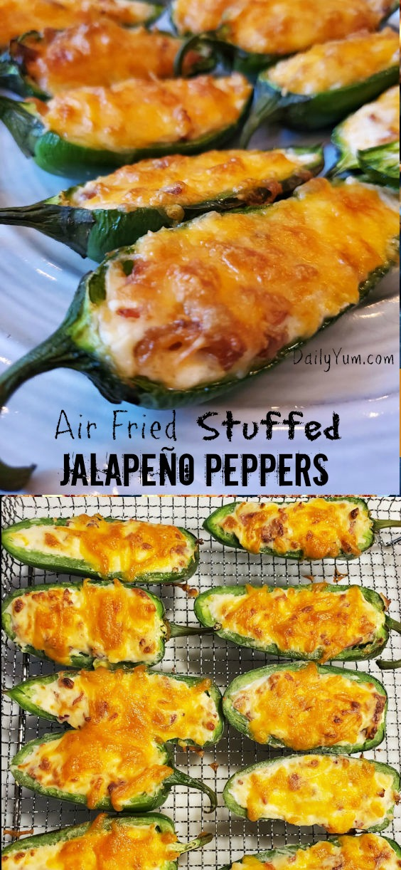 Air Fryer Crunchy Stuffed Jalapeno peppers