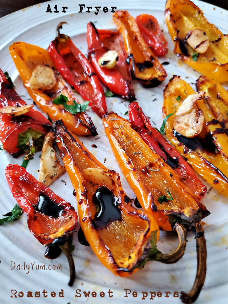 Air Fryer Roasted Sweet Mini Peppers