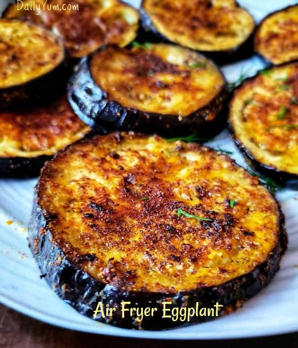 Air Fryer Eggplant - Easy, Healthy and Crispy