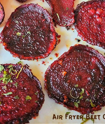Homemade Crispy Air Fryer Beet Chips