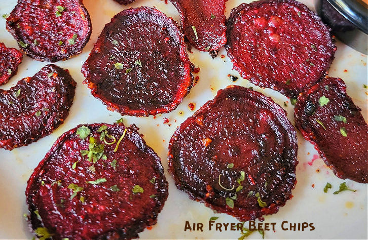 Air Fryer Crispy Beet Chips