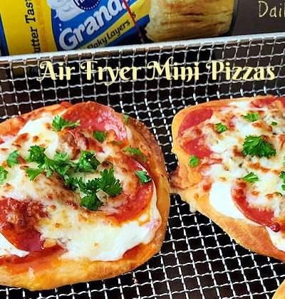 Easy Air Fryer Pizzas (Using Pillsbury biscuits)
