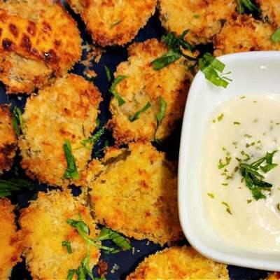 Air fryer fried crunchy pickles recipe