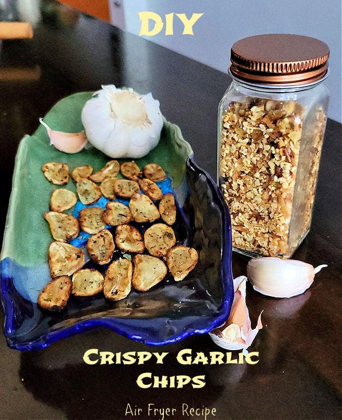 DIY Crispy roasted garlic chips