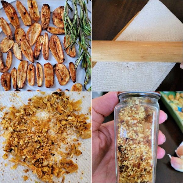 How to make diy garlic chips, crushed garlic