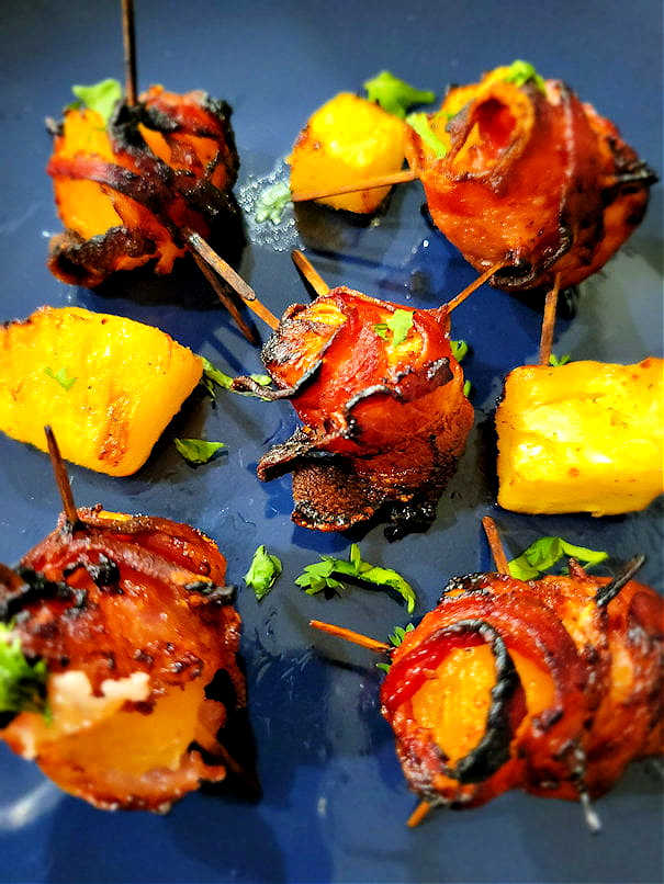 Bacon wrapped air fryer pineapple
