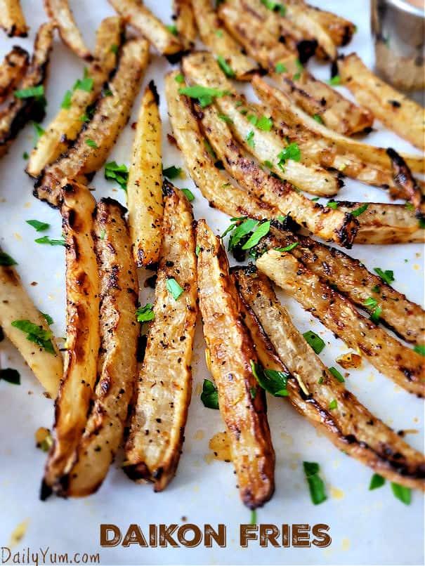 roasted daikon fries
