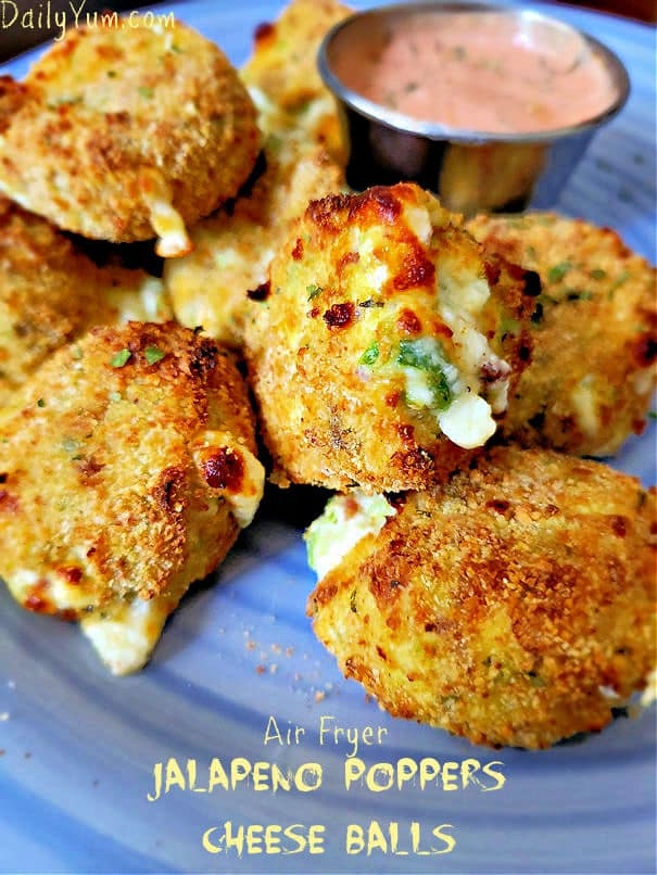 Air fryer Jalapeno poppers cheese balls