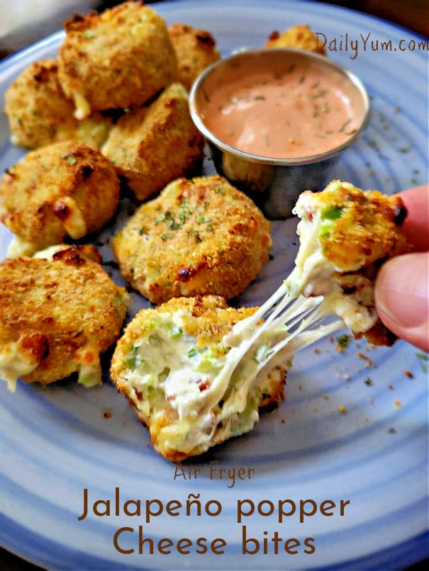 Air fryer jalapeno poppers cheese bites