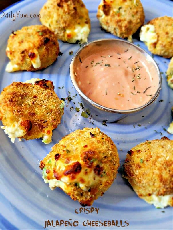 Fried jalapeno cheese balls recipe