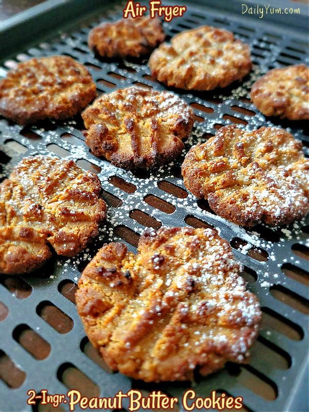 two ingredient peanut butter cookies, air fryer recipe