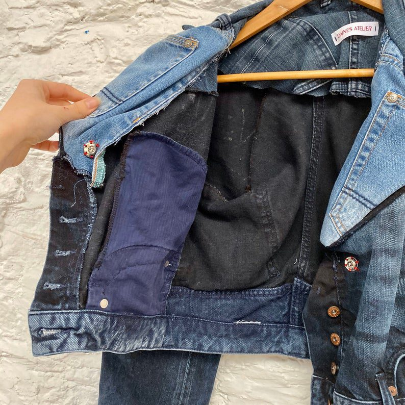 upcycled garment, circular fashion, sustainable clothing, reloved, reclaimed, denim