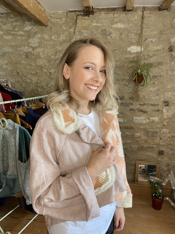 Sustainable Clothing, Pink Cropped, Wool Jacket