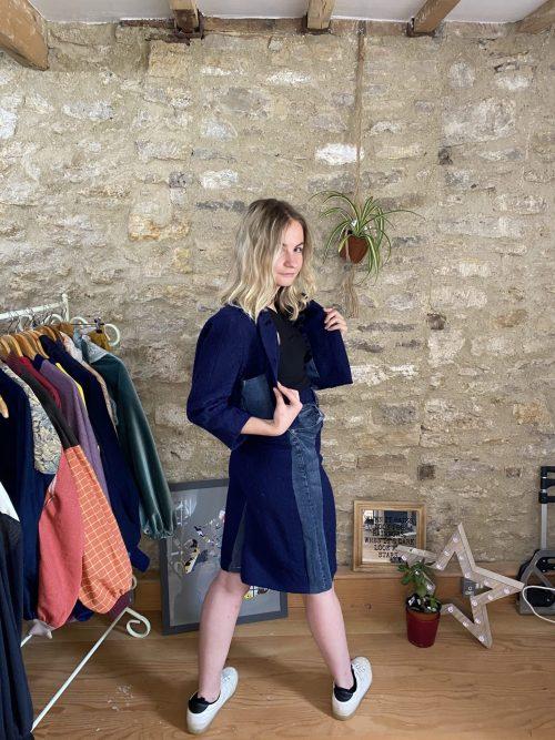 Power Suit, sustainable fashion, upcycled