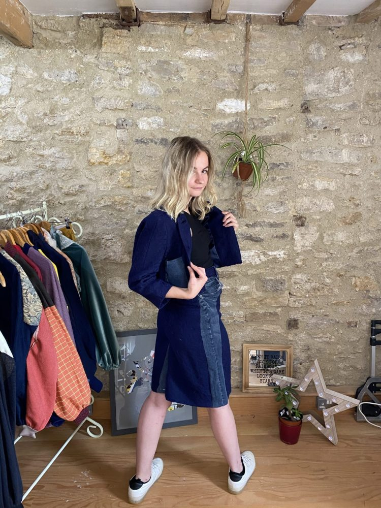 Power Suit, sustainable fashion, upcycled
