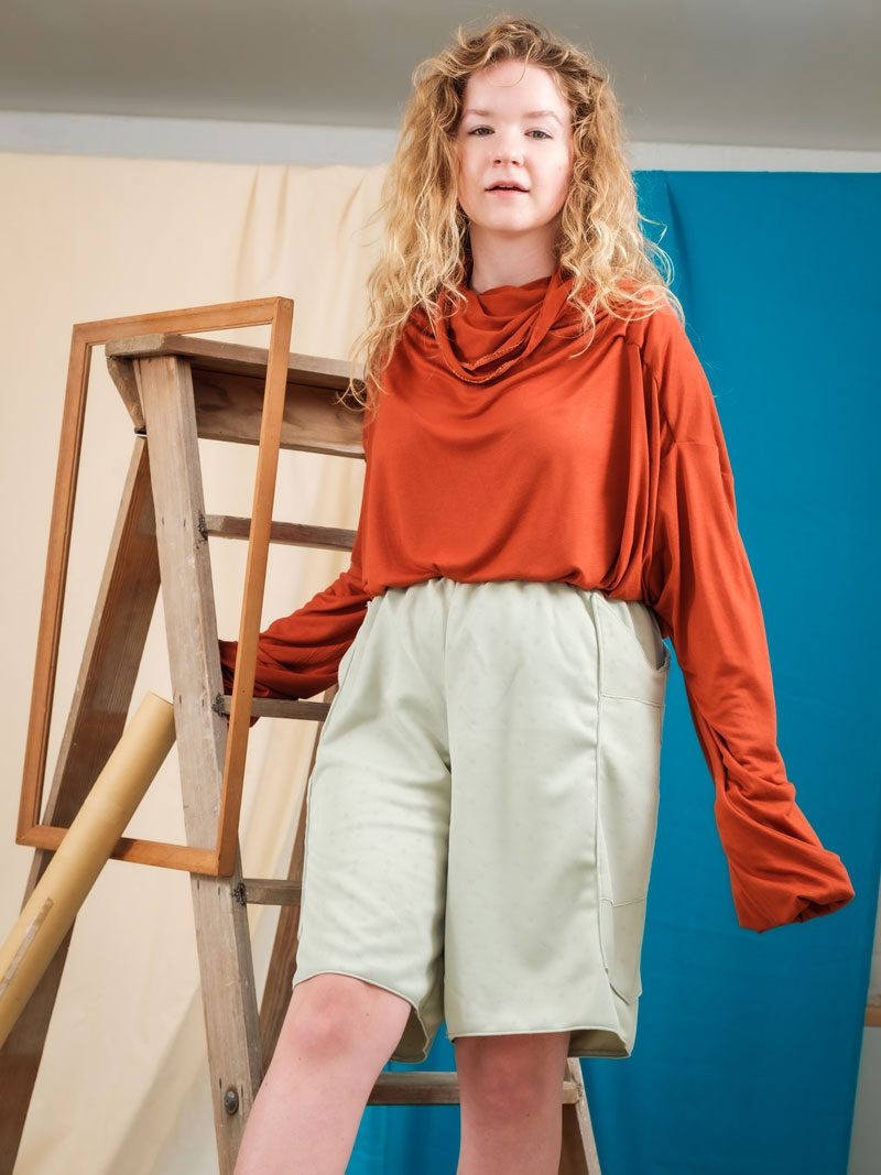Quarantee Orange sustainable fashion deadstock