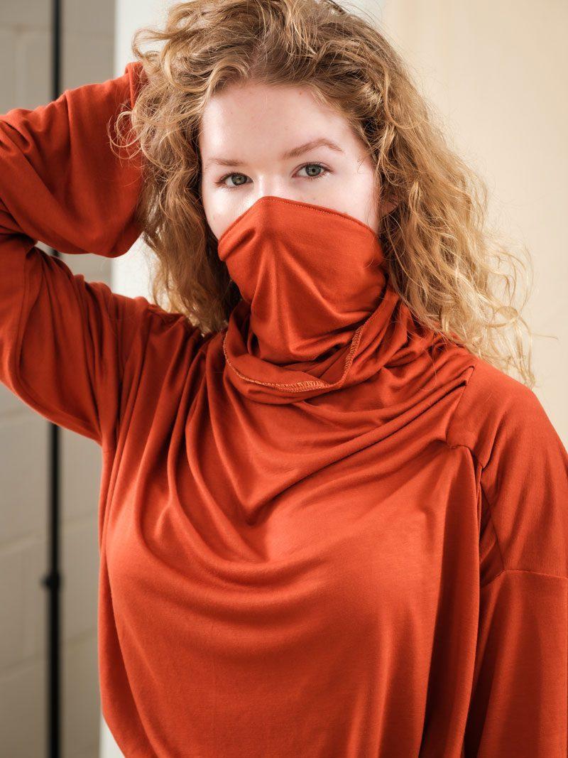 Orange Jersey Quarantee Deadstock Jersey Face Mask Alternative