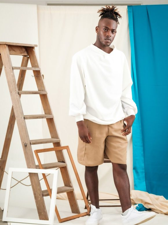 white batwing jumper ethical streetwear unisex fashion