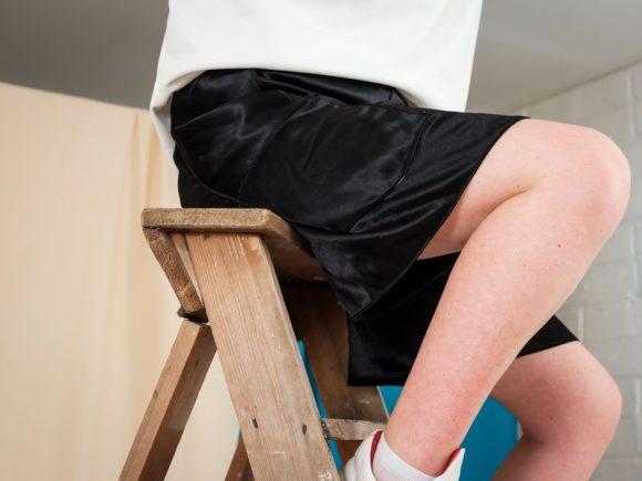 Shiny Black Shorts sustainable upcycled fashion