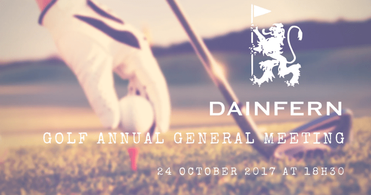 GOLF AGM: 24 OCTOBER 2017