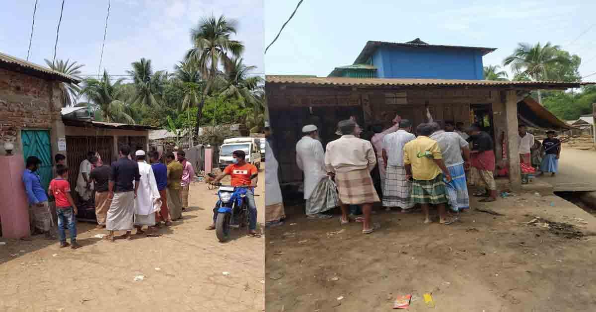 প্রশাসনের নির্দেশ উপেক্ষা করে মহেশখালীতে গরু জবাই