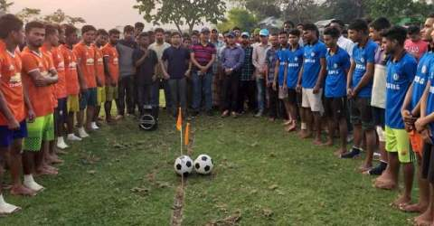 তাহিরপুরে ফুটবল টুর্নামেন্ট উদ্বোধন করলেন জেলা প্রশাসক-আব্দুল আহাদ