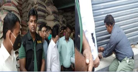 ব্রাহ্মণবাড়িয়ায় চাউল গোডাউন সিলগালা: ভ্রাম্যমান্য আদালতে জরিমানা
